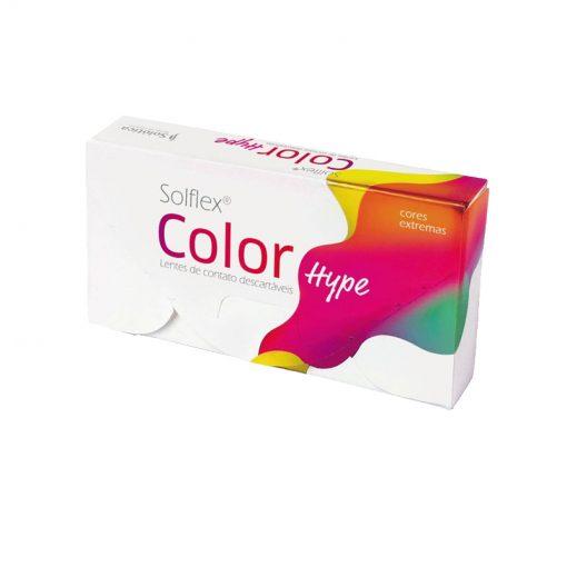 Lente de Contato Solflex Color Hype Mensal Sem Grau