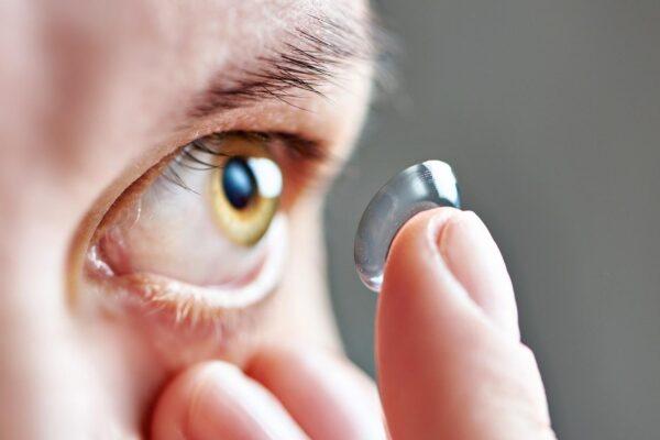 Lentes de contato oftalmológicas